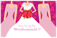 Will You Be My Bridesmaid Stock Image