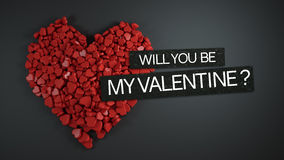 Will You Be My Valentine ? 3D Rendering. Design Stock Photo