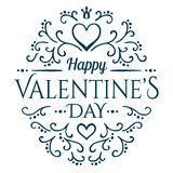 Will you be my Valentine with floral ornament Royalty Free Stock Photos