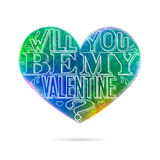 Will you be my Valentine greeting card Stock Images