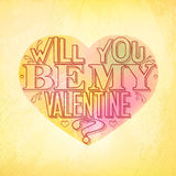Will you be my Valentine greeting card Stock Photo