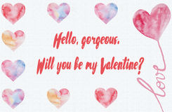 Will You Be My Valentine Template Stock Photo