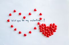Will you be my valentine royalty free stock image