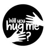 Will You Hug Me Royalty Free Stock Images