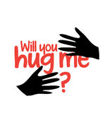 Will You Hug Me. Concept Design. EPS 8 supported Royalty Free Stock Images