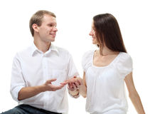 Will you marry me? Royalty Free Stock Photography
