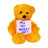 Will you marry me teddy Royalty Free Stock Photography