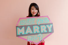 Will you marry me stock photography