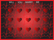 Will you marry me.  Royalty Free Stock Images