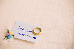 Will you marry me background, Wedding studio concept Royalty Free Stock Images
