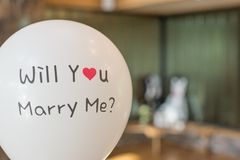 Will You Marry Me Balloon Royalty Free Stock Image