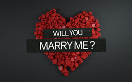 Will You Marry Me ? 3D Rendering. Design Stock Photo