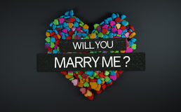 Will You Marry Me ? 3D Rendering Royalty Free Stock Image