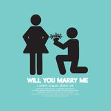 Will You Marry Me Graphic Symbol Royalty Free Stock Photography