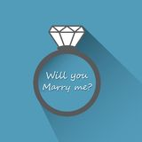 Will you marry me ring sign icon. Royalty Free Stock Image