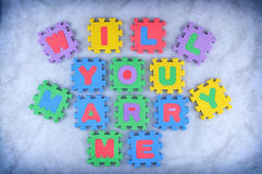 Will you marry me Royalty Free Stock Photography