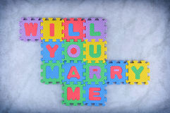 Will you marry me Stock Photos