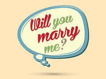 Will you marry me text Stock Photography