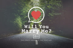 Will You Marry Me Valentine Romance Love Heart Dating Concept Stock Image