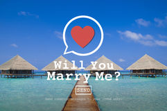 Will You Marry Me Valentine Romance Love Heart Dating Concept Stock Photography