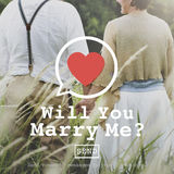 Will You Marry Me Valentine Romance Love Heart Dating Concept Royalty Free Stock Photography