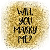 Will you merry me card Royalty Free Stock Photos
