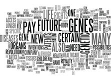 Will Your Children Own Their Genes Word Cloud. WILL YOUR CHILDREN OWN THEIR GENES TEXT WORD CLOUD CONCEPT Royalty Free Stock Images