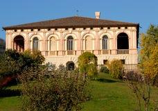 Willa biskupi nasłoneczneni w Luvigliano przez wzgórzy w prowinci Padua w Veneto (Włochy) Fotografia Stock