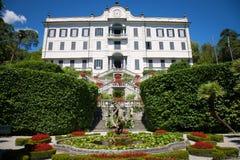 Willa Carlotta, Jeziorny Como, Włochy fotografia royalty free
