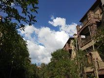 Willa, Chińska architektura integrująca z środowiskiem obraz royalty free