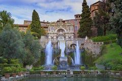 Willa d ` Este, Tivoli najwięcej popularnego podróżnego miejsca przeznaczenia w Lazio fotografia royalty free