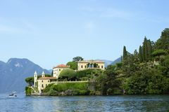 Willa Del Balbianello, jeziorny Como, Lenno, prowincja Como, Włochy fotografia royalty free