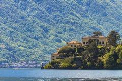 Willa Del Balbianello na Jeziornym Como Fotografia Royalty Free
