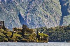 Willa Del Balbianello na Jeziornym Como w Włochy Obraz Royalty Free