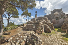 Willa Jovis na wyspie Capri Zdjęcia Royalty Free