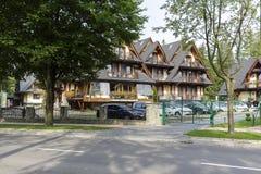 Willa Pod Skocznia em Zakopane foto de stock