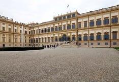 Willa Real, Monza, Włochy Willa Real 01/10/2017 Królewscy ogródy i park Monza Pałac, neoklasyczny budynek Obraz Stock