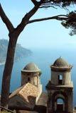 Willa Rufalo w Ravello, Amalfi wybrzeże Zdjęcie Stock