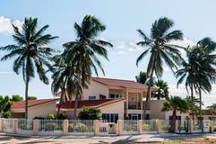 Willa w Aruba, Karaibska architektura zdjęcia stock
