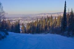 Willage in Siberia ad ovest Immagini Stock Libere da Diritti