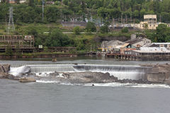 Willamette Falls in Oregon City. Willamette Falls Along Willamette River between Oregon City and West Linn Stock Photo