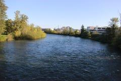 Willamette-Fluss Lizenzfreie Stockfotos