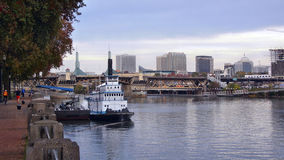 On the Willamette River. In Portland Stock Photos