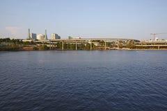 Willamette River, Portland city Stock Image