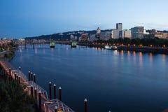 Willamette rzeka w Portland, Oregon zdjęcie stock
