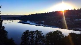 Willamette tombe au coucher du soleil Photographie stock