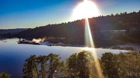 Willamette tombe juste avant le coucher du soleil images libres de droits