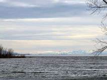 Willard Bay with Icy Mountains 2 Royalty Free Stock Image