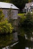 Willard Covered Bridges - Nord-Hartland, Vermont stockbild