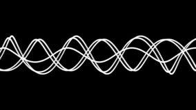 Willekeurig bewegende witte lijnen op zwarte achtergrond stock illustratie